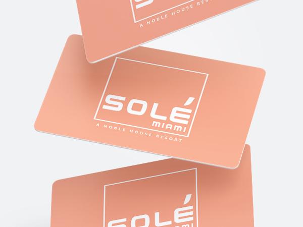 Sole Miami gift cards.