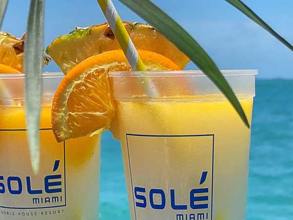Drinks By The Ocean.