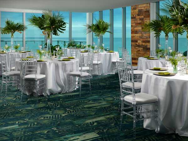 Wedding Reception By The Ocean In Miami.